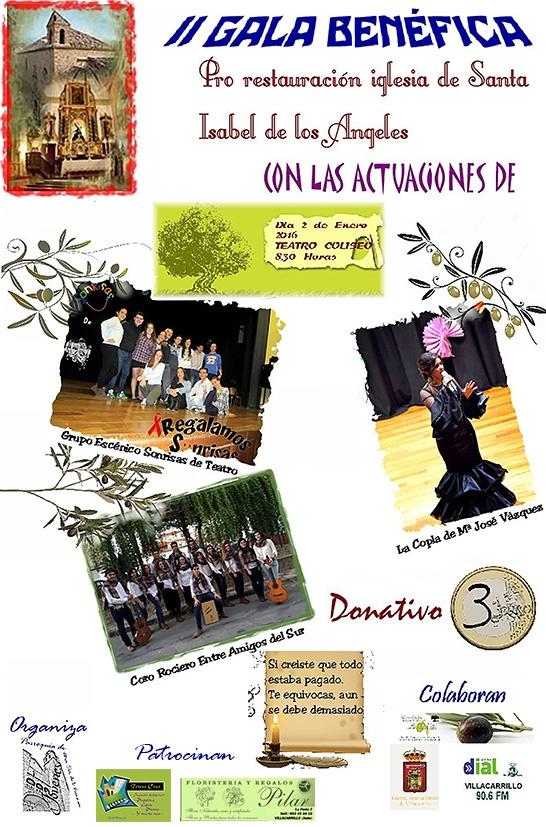 Cartel gala benéfica Santa Isabel