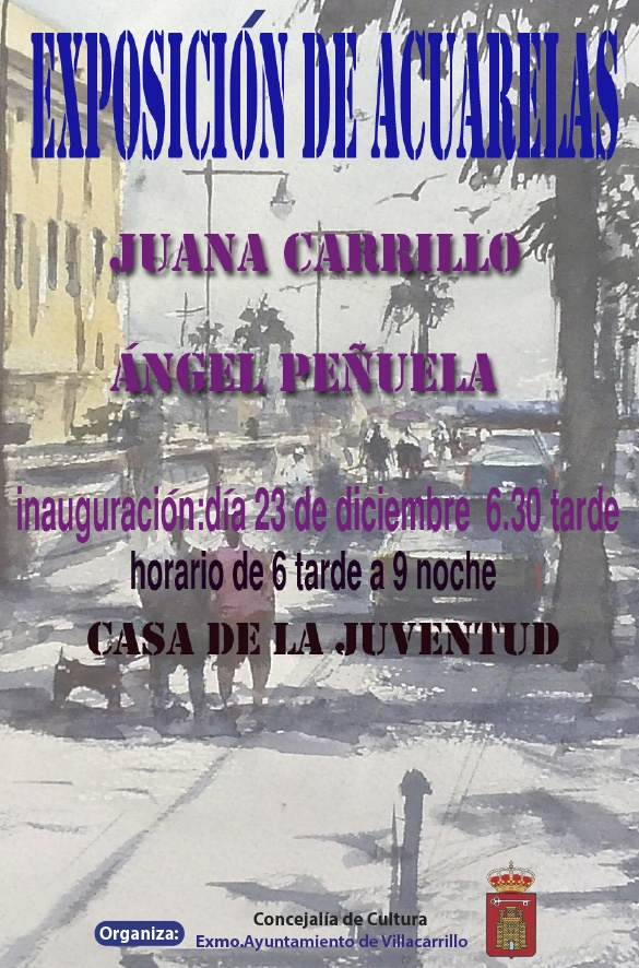 Exposicion Acuarelas Juana Carrillo