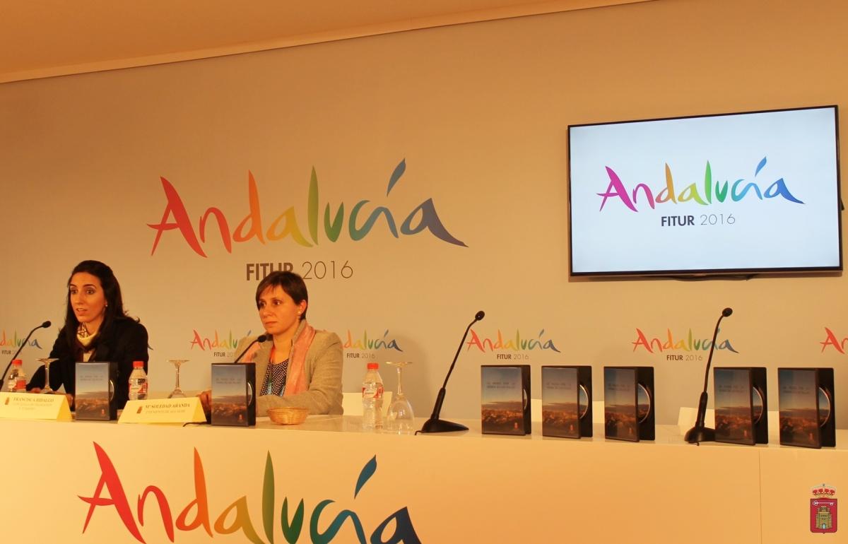 Francisca Hidalgo, Soledad Aranda. Presentación en Fitur del video promocional de la Sierra de Las Villas