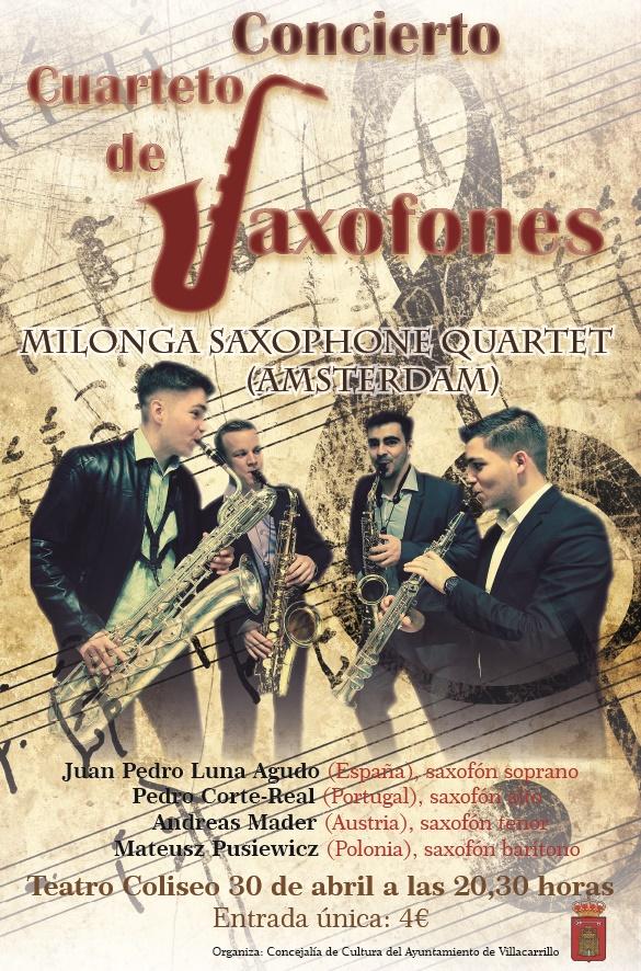 Cartel Cuarteto saxofon