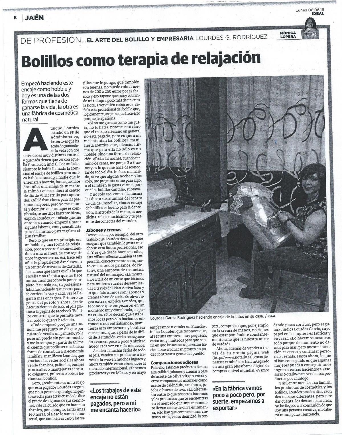 Ideal. Entrevista a Lourdes Garcia. 6-6-16 (1)