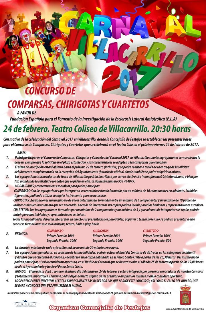 Cartel Carnaval Villacarrillo 2 2017