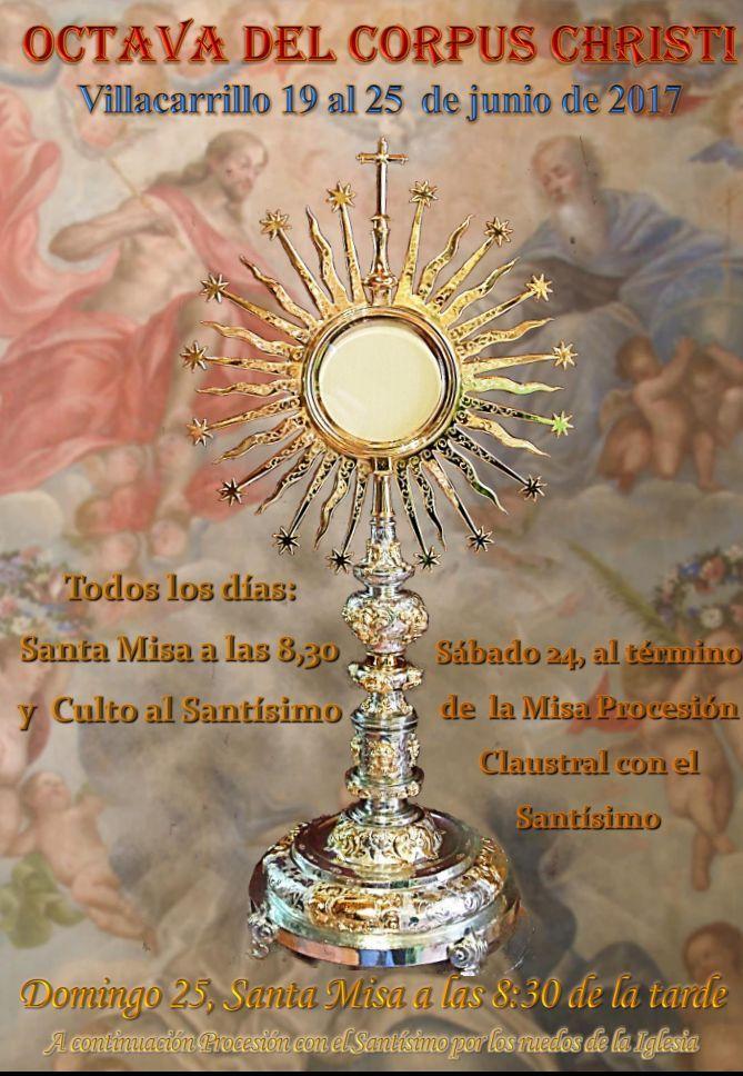 Cartel de la octava del Corpus 2017 Villacarrillo