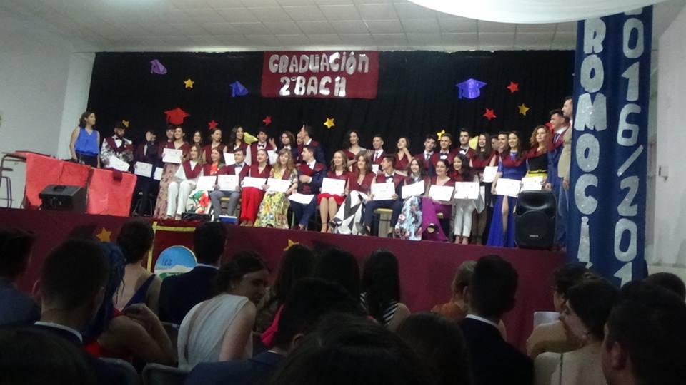 GRADUACION IES SIERRA DE LAS VILLAS 2018 BACHILLERATO 3