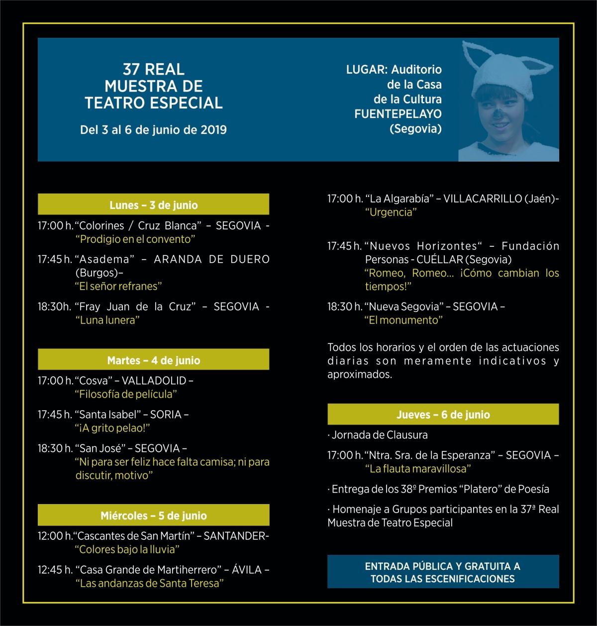 Diptico Teatro Especial 2019_2