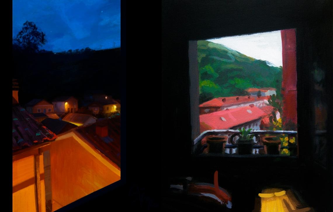 14. VENTANA - Peñaskal óleo + digital - Peñaskal óleo