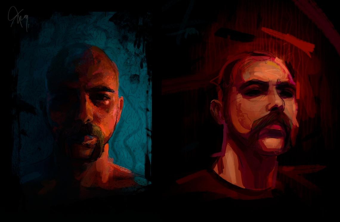 4.Autorretrato x2 - digital
